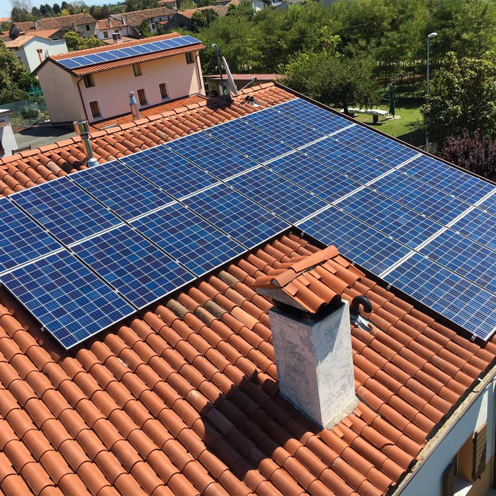 impianto fotovoltaico casa friuli