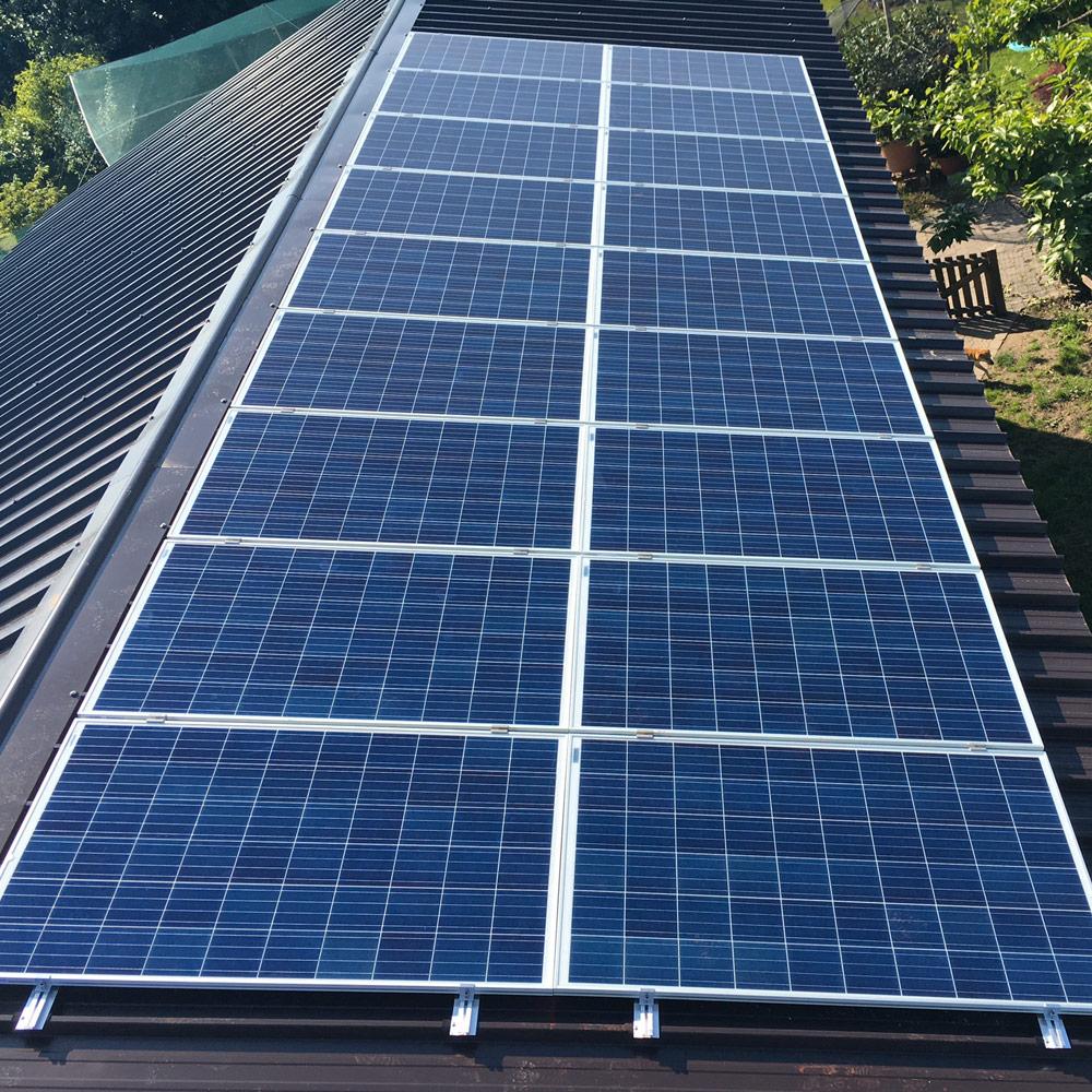 impianto fotovoltaico tetto capannone conegliano