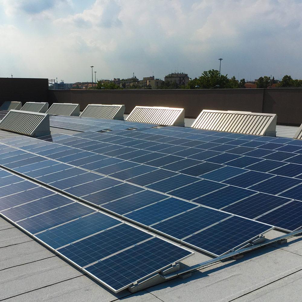 impianto fotovoltaico tetto magazzino sacile