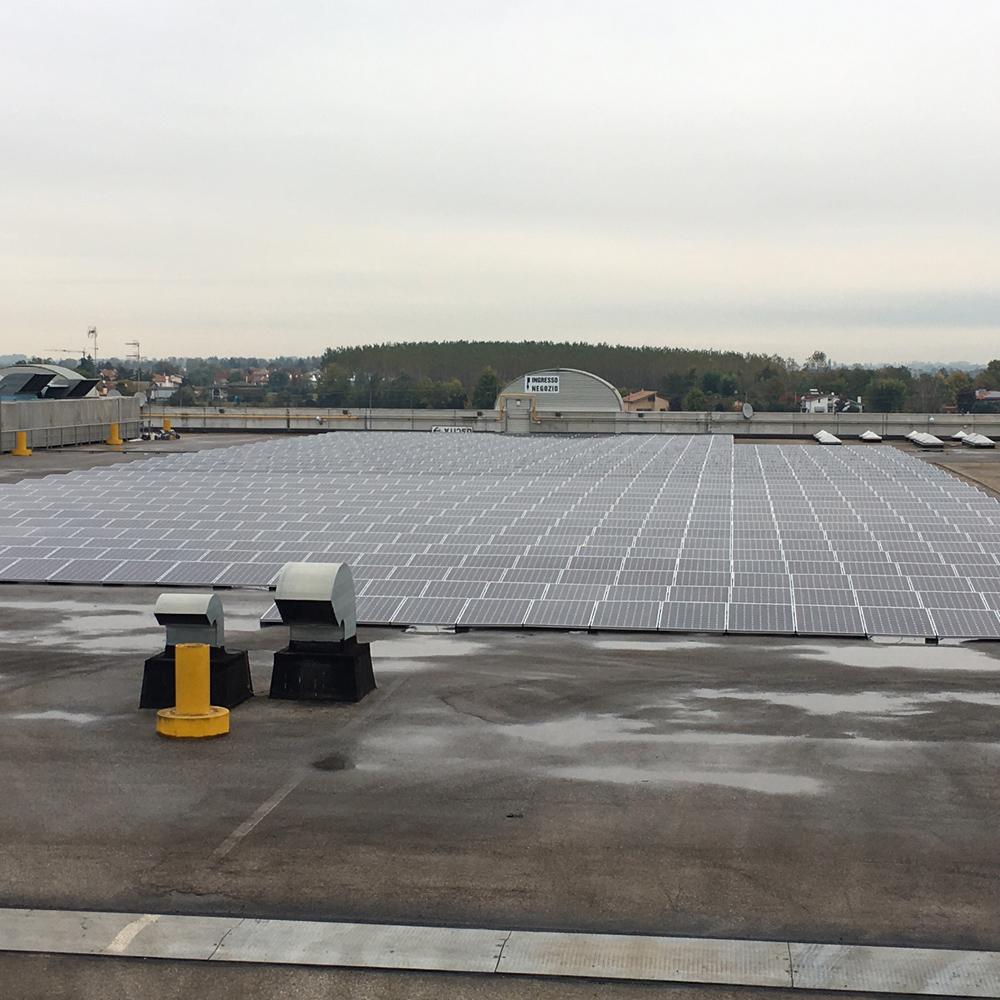 impianto fotovoltaico tetto magazzino veneto