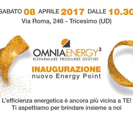Inaugurazione Tricesimo energy point